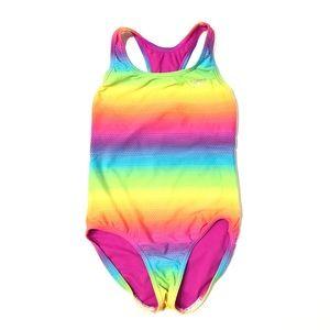 SPEEDO Girl's Multicolour One-Piece Swimsuit Sz 10